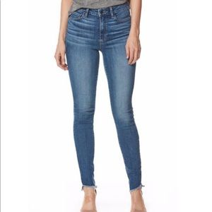 Paige Hoxton Ankle Raw Hem Skinny Jeans Size 29